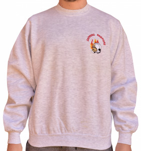 Sweat col rond broderie coeur