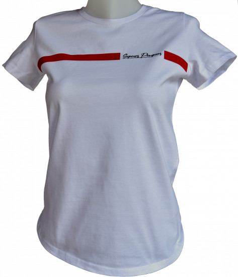 T-shirt bande rouge