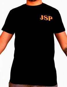 T-shirt casque jsp orange fluo