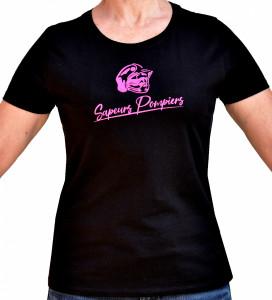 T-shirt Sapeur pompiers femme