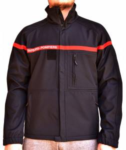 veste softshell officielle bande rouge