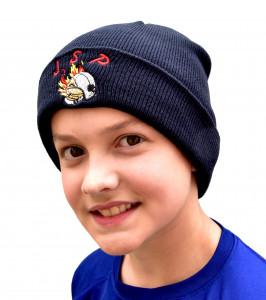 Bonnet tricoté brodé JSP casque F1